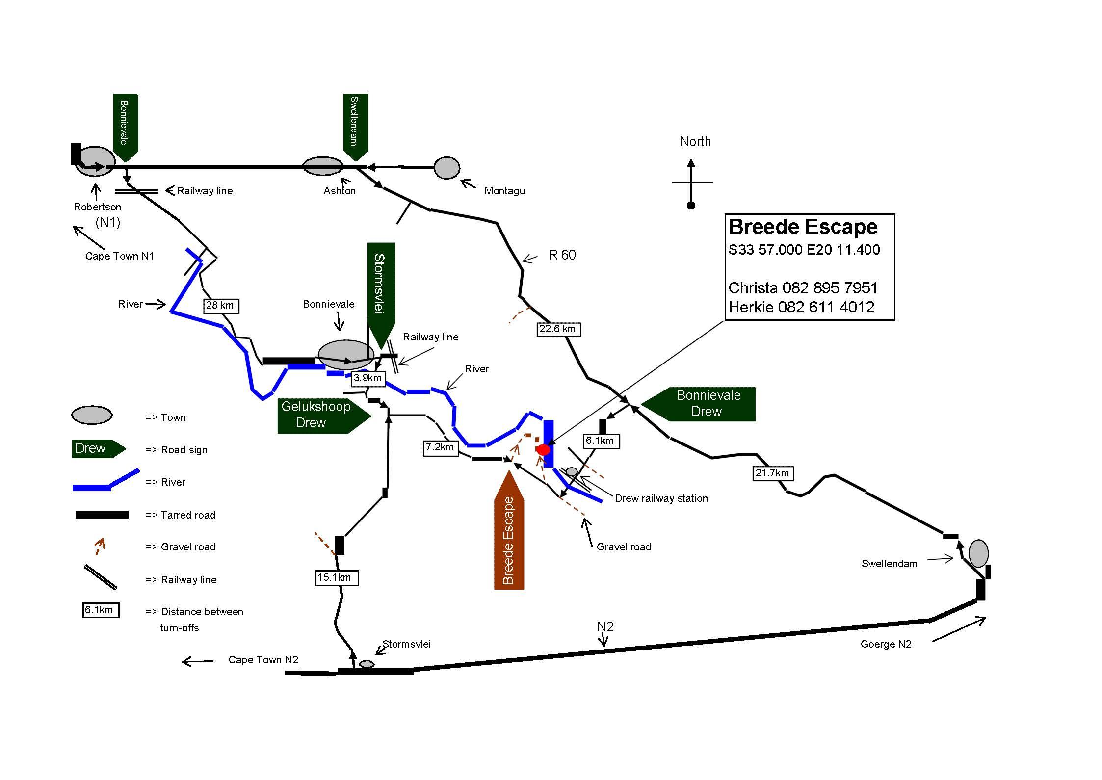 Breede-Escape-Map